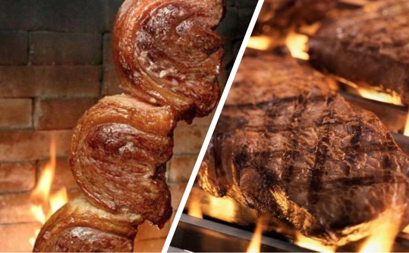 Qual é melhor: carne no espeto ou na grelha?
