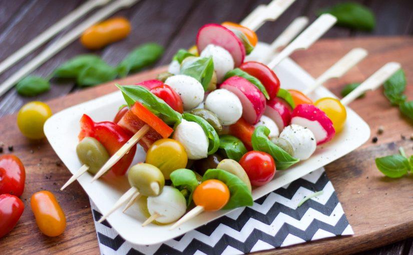Churrasco vegetariano: espetinho